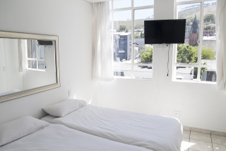 Large bedroom with views of Signal Hill