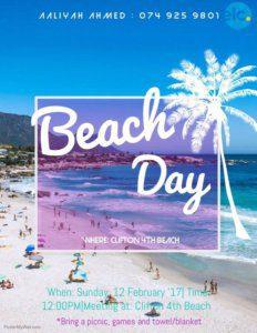 Social Programme Beach Day