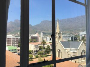 view of table mountain from the room