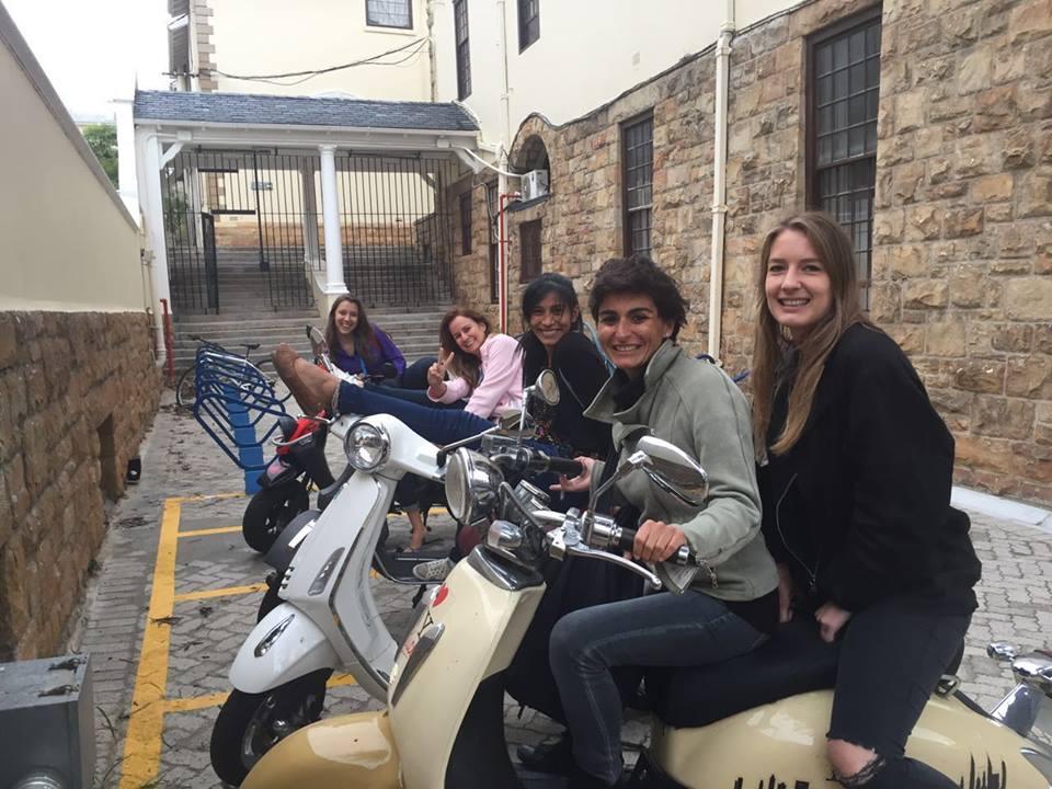 Our biker girls at UCT English Language Centre