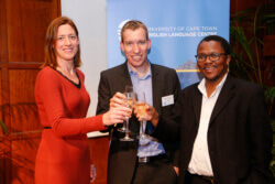 Juliette Hartmann - ELC Director of Studies, Simon Harrison - ELC Director, Prof Sakhela Buhlungu, Dean of Humanities