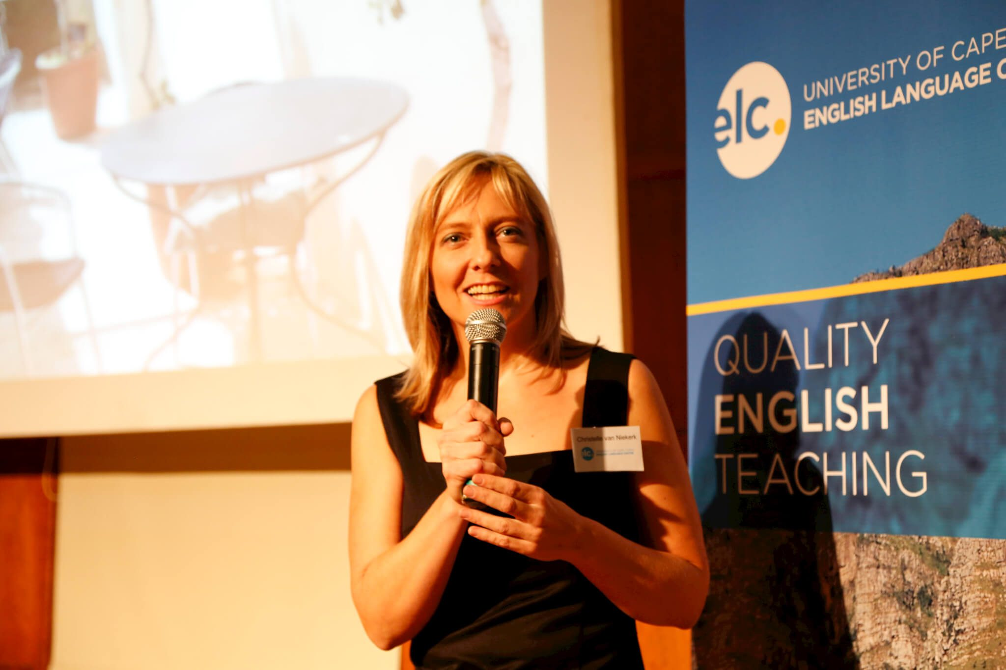 Teacher and MC, Christelle Van Niekerk