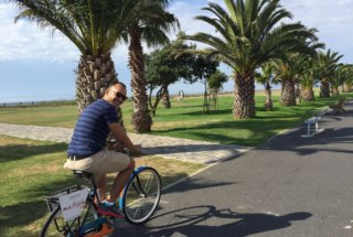 Cycling on the Sea Point Promenade