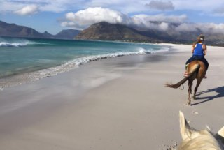 Pam Horseback Riding on Noordhoek Beach #2