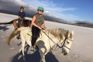 Pam Horsebackriding on Noordhoek Beach #1