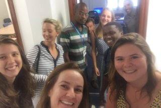 Passageway selfies