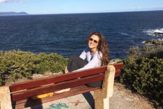 Mariana on a Bench Somewhere on the Garden Route