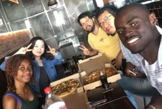 A Chinese, Gabonese, Brazilian, S. Korean, Congolese Lunch