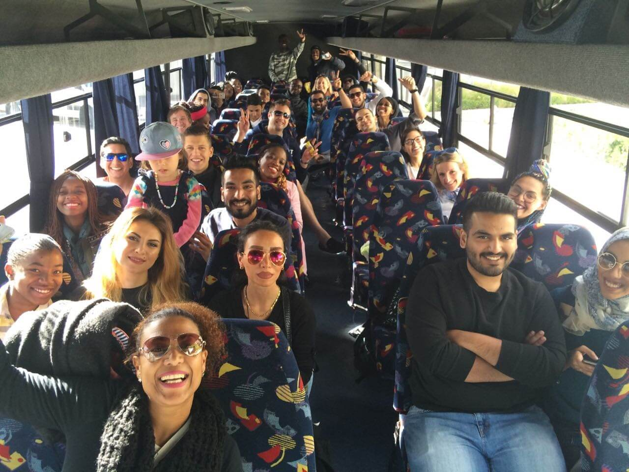 Student Outing | UCT English Language Centre | Students on the Bus