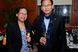 Prof. Qin Shengyong and Ms. Qiling Ying