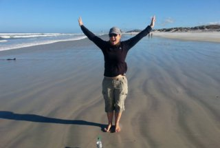 Teacher Christelle on the Beach