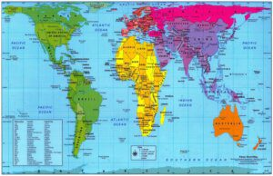 UCT English Language Centre | Galls-Peters Projection Map