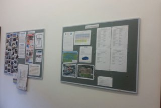 Student Notice Boards and Class Scehdules