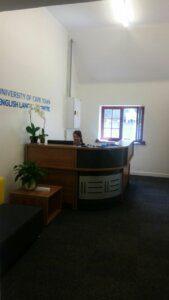 UCT English language Centre | Reception