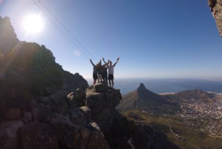 On Top of Table Mountain - They Made it!