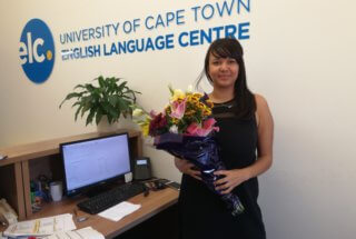Kirsten and the Flowers from the TEFL Trainees