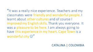 Review Catalina_Colombia UCT English Language Centre