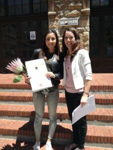 UCT English language Centre Zoe Graduation with Monica Boshoff