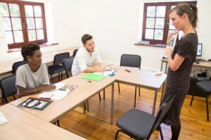 UCT English Language Centre | Teacher Catherine in English Class