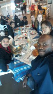 UCT English Language Centre Cape Town | English Course Students Enjoying a Meal Together