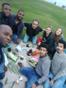 UCT English Language Centre Cape Town | Student Stories | Galina with her friends for a picnic