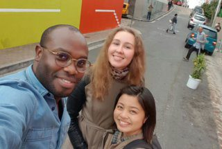 Celso, Chise and Galina in Bo Kaap