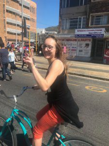 UCT English Language Centre | Social Programme | Open Streets | Sarah on a Bicycle