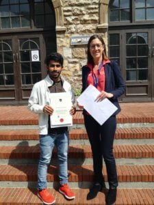 UCT English Language Centre | Abdurahim's Graduation with Juliette