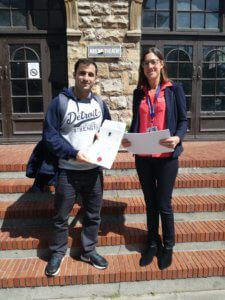 UCT English Language Centre | Erkan's Graduation with Juliette