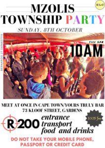 Social Programme | UCT English Language Centre | Mzolis Township Party