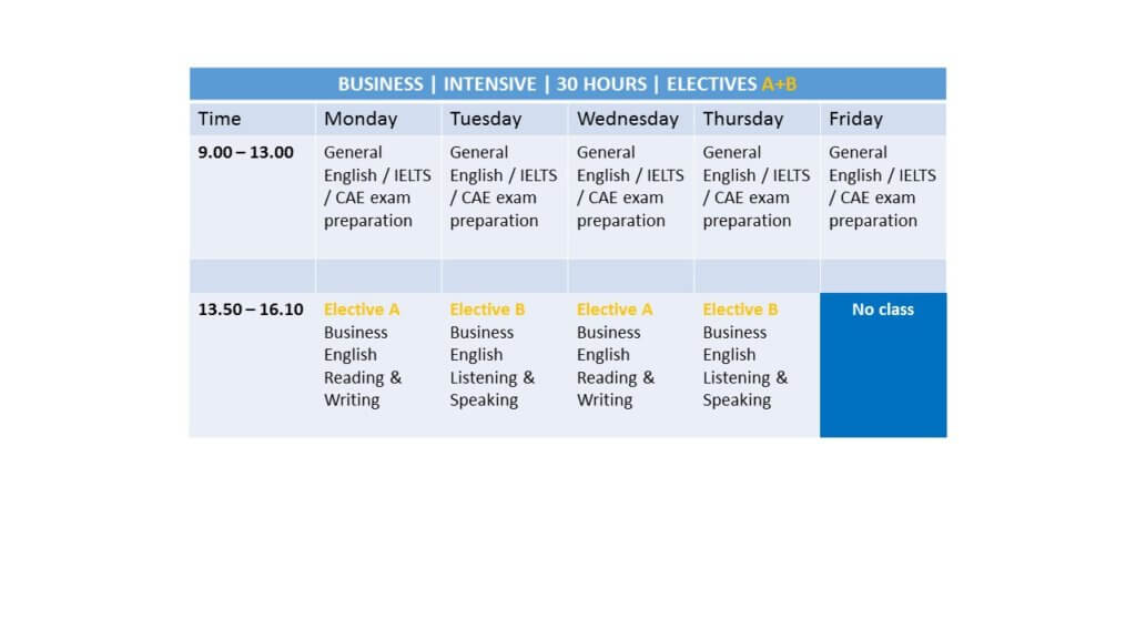 Business English Electives A and B