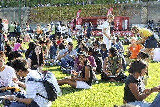 Students at a UCT Braai