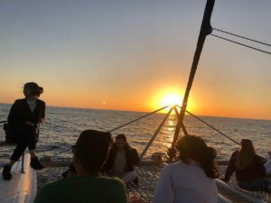 ELC Sunset boat tour on our Social Programme