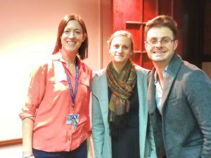 Presenters, Warren and Daniella, and Organiser,Juliette at Professional Development Workshop
