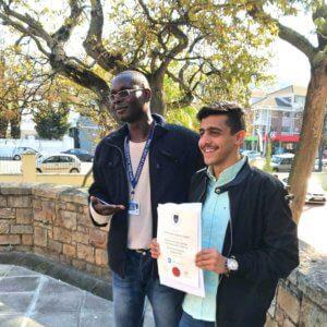 Classmates: Diouf and Ebrahim