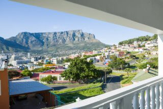 View of Cape Town and Table Mountain from the Balcony