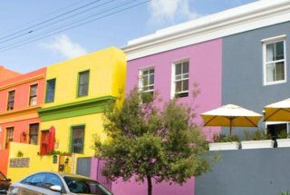 The colourful Bo-Kaap main street.