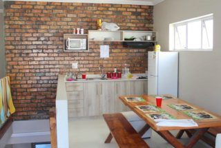 A guest kitchen at a home in the city centre.