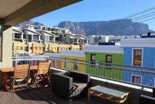 The view from the deck in vibrant Bo-Kaap.