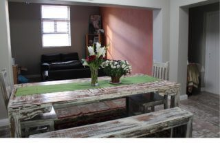 The dining area in a host family's house.