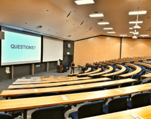 Lecture theatre on Upper Campus