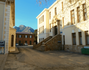 The Old Medical School Building with Table Mountain Park in the background