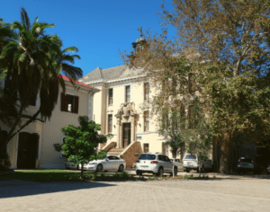 Bertram House and the Old Medical School buildings on Hiddingh Campus