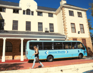 Use the free student shuttle service to travel between campuses