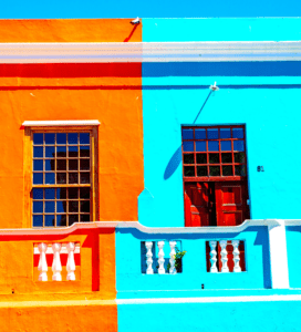 Colourful neighbours in heritage site, Bo-Kaap