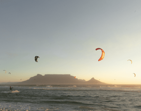 Kite-surfing in Table View