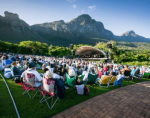 A concert in the Kirstenbosch Botanical Gardens