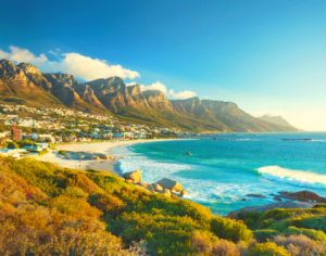 Camps Bay on the Atlantic Seaboard in Cape Town