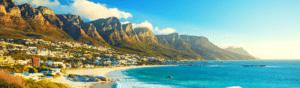 The Atlantic coastline in Cape Town