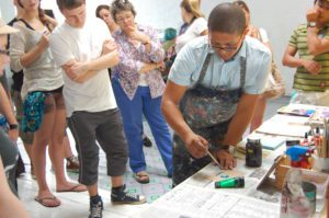 Students attending an Art Workshop